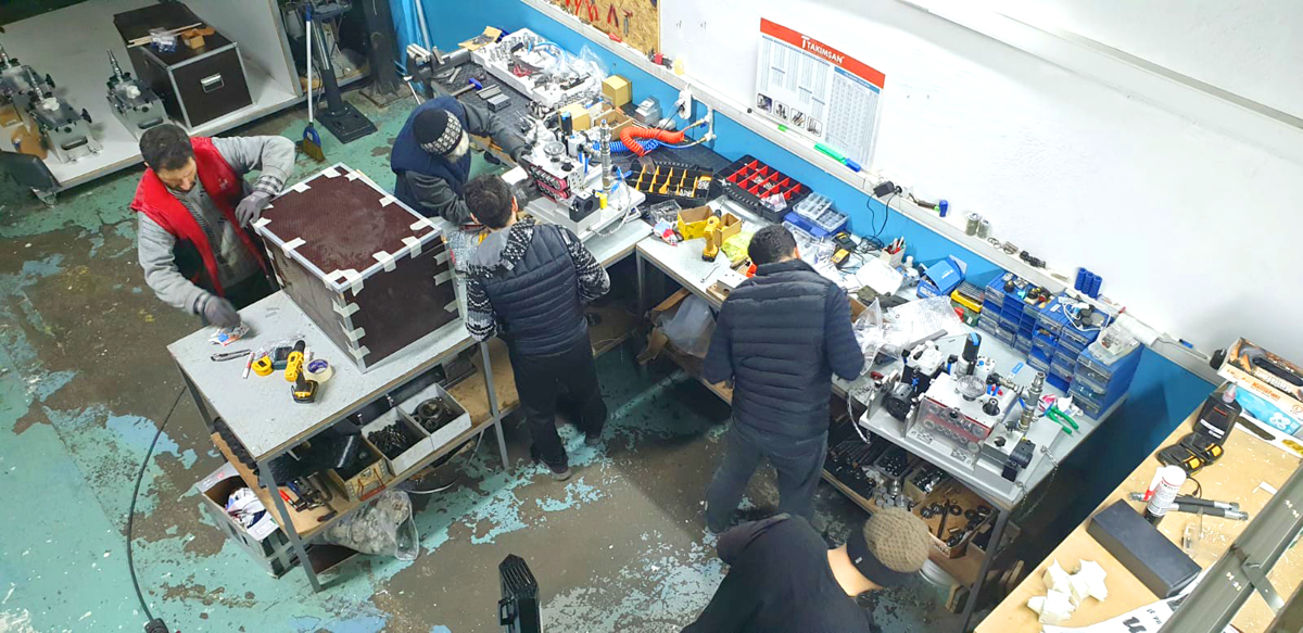 allame fabrika üretim