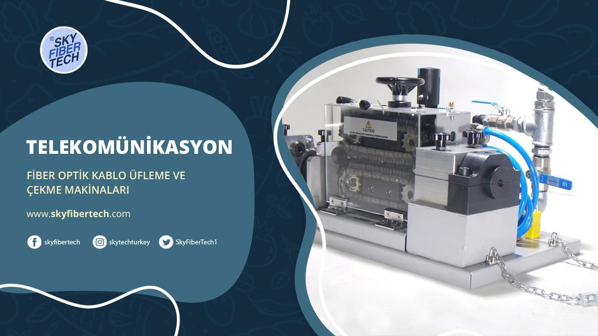 skytech fiber optik kablo üfleme ve çekme makinaları